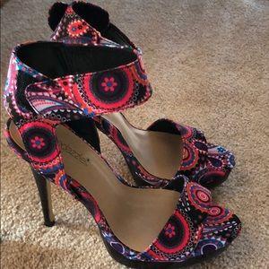 Paisley heels